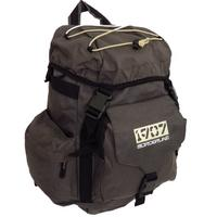 View Item GREY BORDERLINE 1907 RUCK-SACK BACK-PACK HIKING TRAIL MULTI-POCKET BAG