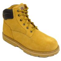 View Item MENS HONEY WHEAT CASUAL LACE-UP SUEDE LEATHER ANKLE WIDE BOOTS SIZES 6-14