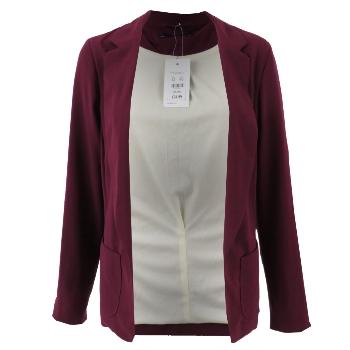 veste blazer femme manche longue couleur bordeaux boyfriends taille eu 34 46 ebay. Black Bedroom Furniture Sets. Home Design Ideas