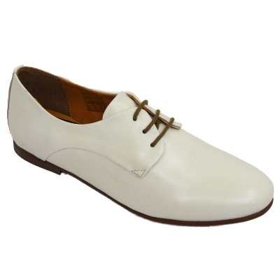 womens white leather flat loafers oxford brogue lace