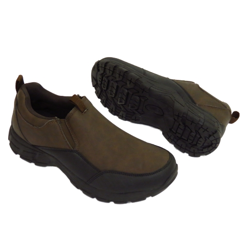 MENS-BROWN-RUGGED-OUTBACK-SLIP-ON-CASUAL-WALKING-TRAINERS-HIKING-SHOES-SIZE-6-12