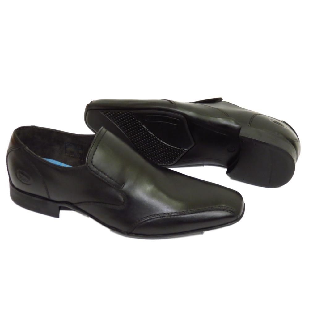 mens boys black base hollow mto leather slip on