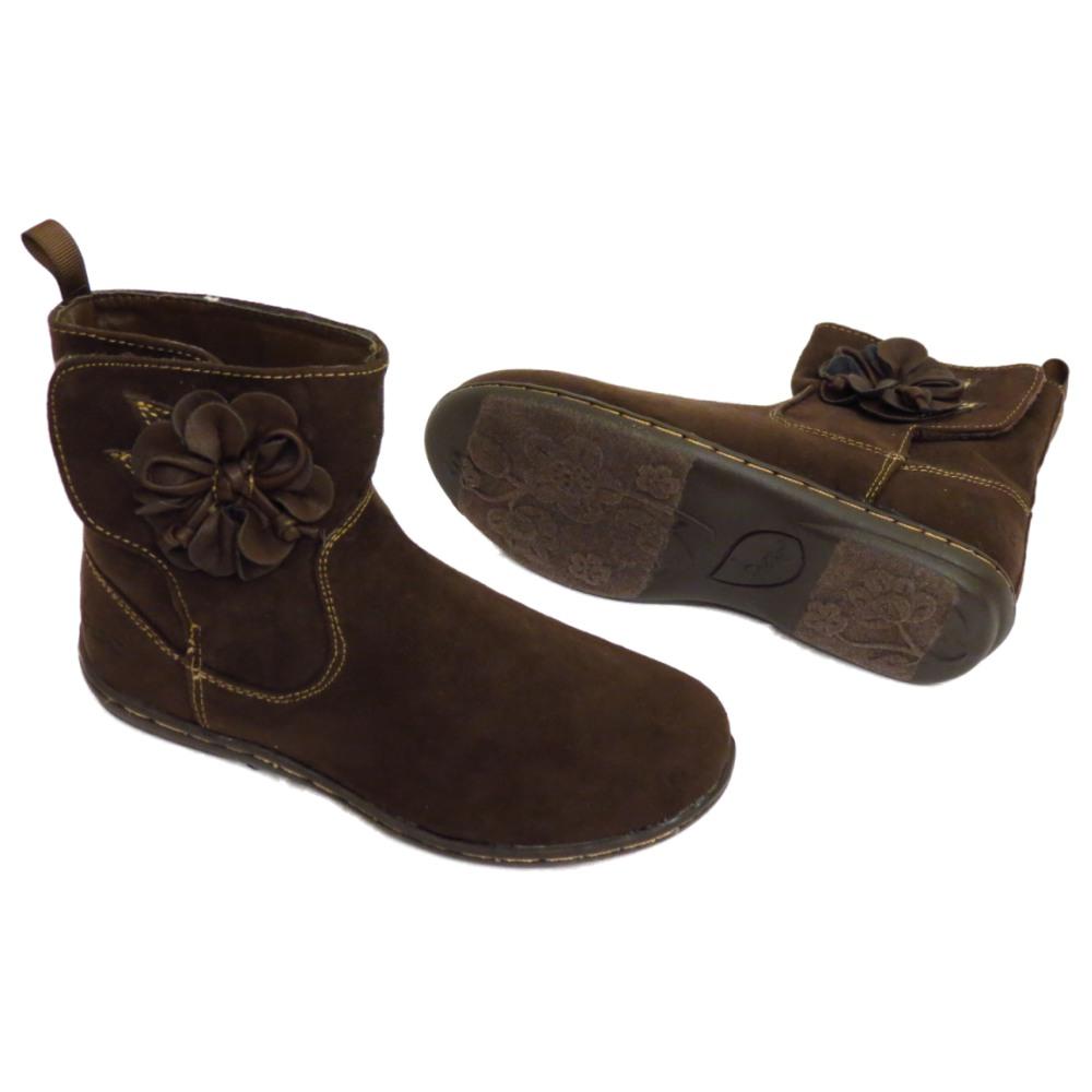 childrens brown ankle flower velcro school