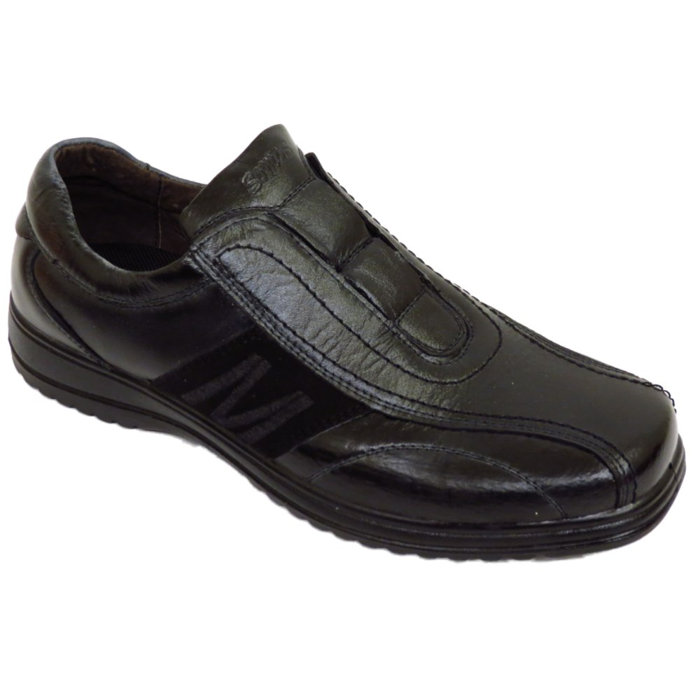 MENS-BOYS-BLACK-CASUAL-SLIP-ON-TRAINERS-PUMPS-COMFORT-SCHOOL-WORK-SHOE-SIZE-6-11