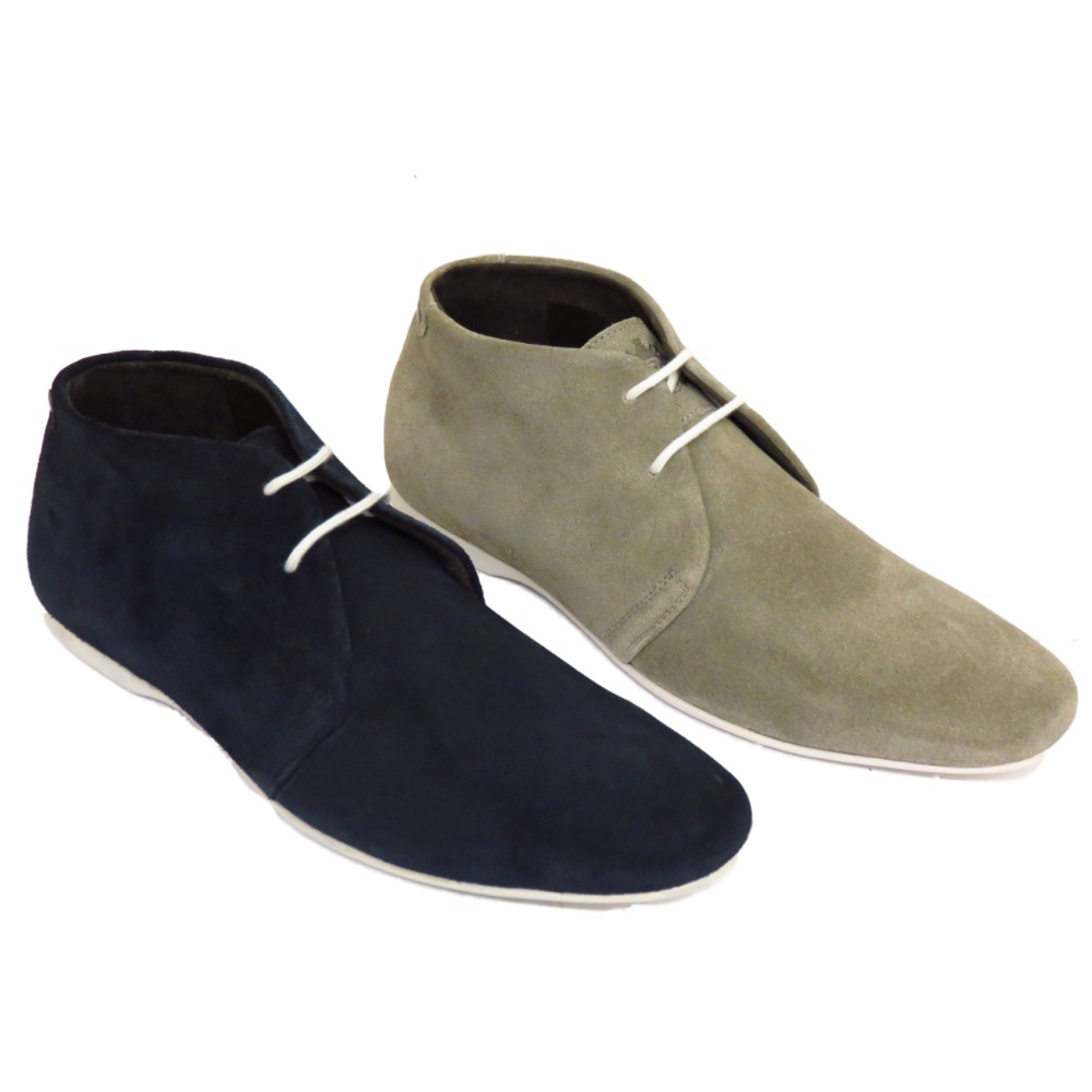 base mens shoe zone grey navy suede leather lace up