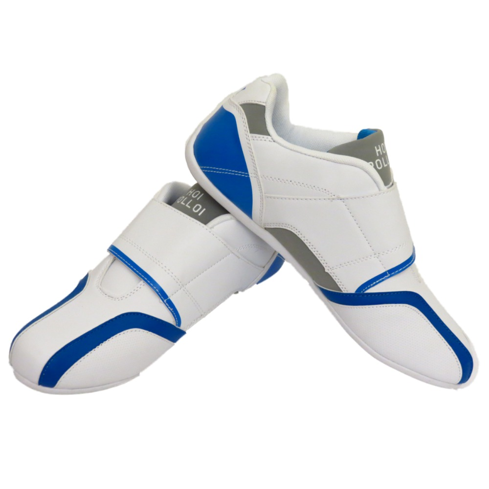 MENS-WHITE-BLUE-COMFORT-VELCRO-GYM-SPORTS-TRAINERS-CASUAL-SHOES-PUMPS-SIZES-8-12
