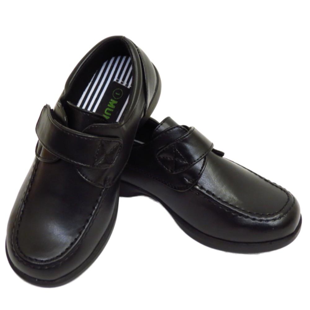 jungen kinder schwarz schul klettband comfort slipper. Black Bedroom Furniture Sets. Home Design Ideas