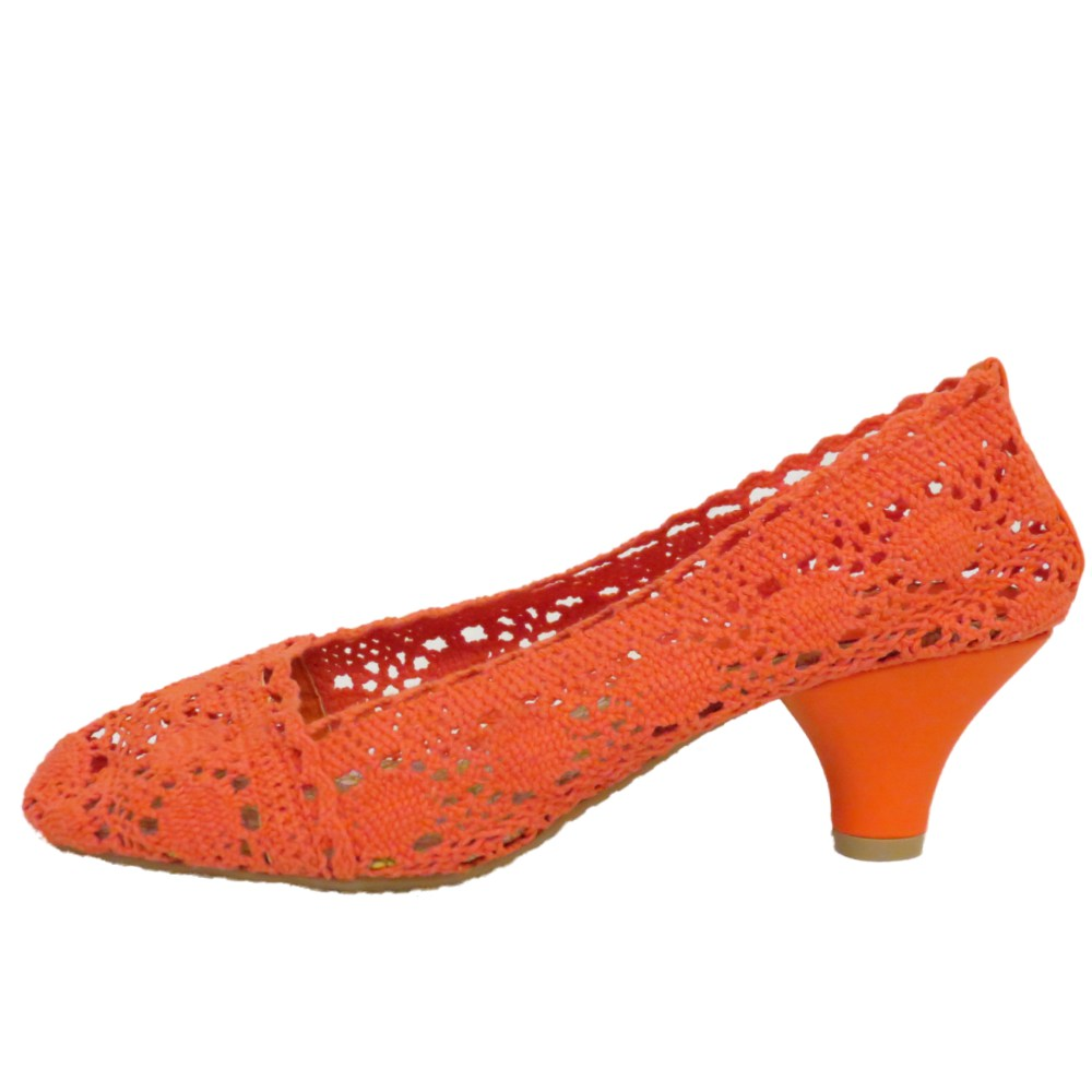 Ladies Orange Flat Shoes