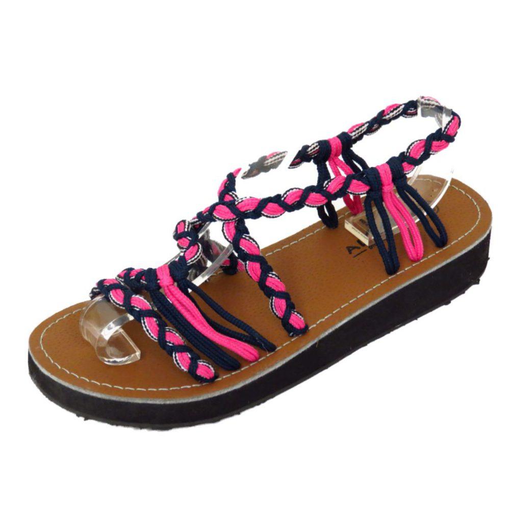 Mujer Rosa Cuña Baja Gladiador De Tiras Sandalias Verano Chanclas Zapatos número