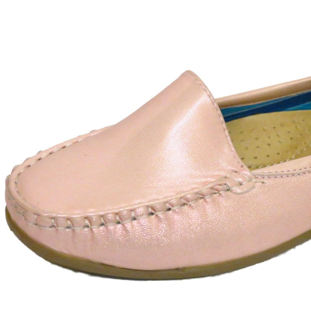 LADIES-PINK-PEARL-SLIP-ON-LOAFERS-WOMENS-COMFORT-CASUAL-MOCCASIN-SHOES-SIZES-3-7