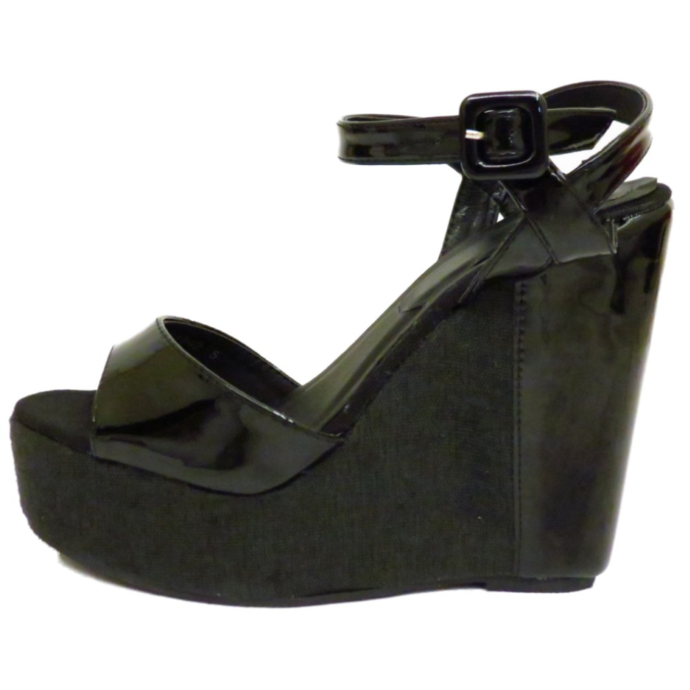 LADIES-BLACK-PEEP-TOE-WEDGE-PLATFORM-SUMMER-STRAPPY-SANDALS-SHOES-SIZES-3-8