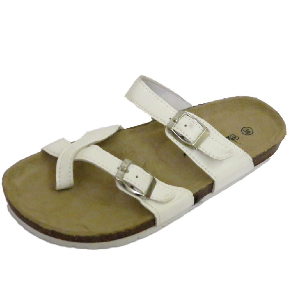 Sandals shoes summer - Sentinel Ladies White Flat Slip On Toe Post Summer Comfort Sandals Shoes Sizes 3