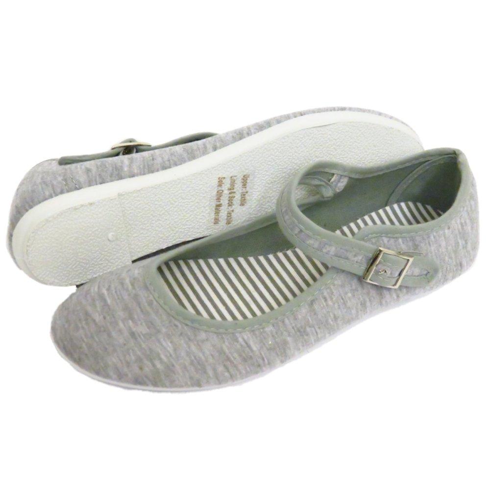 Para Mujer Gris Hebilla Plana Ballet Ballerina señoras Verano Bombas Zapatos Talla 3-8