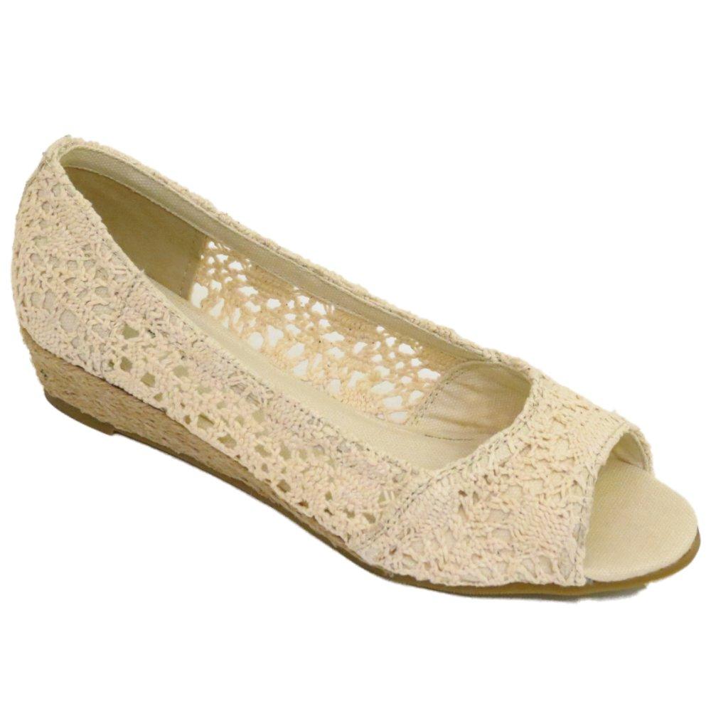 Beige Wedge Shoes Uk