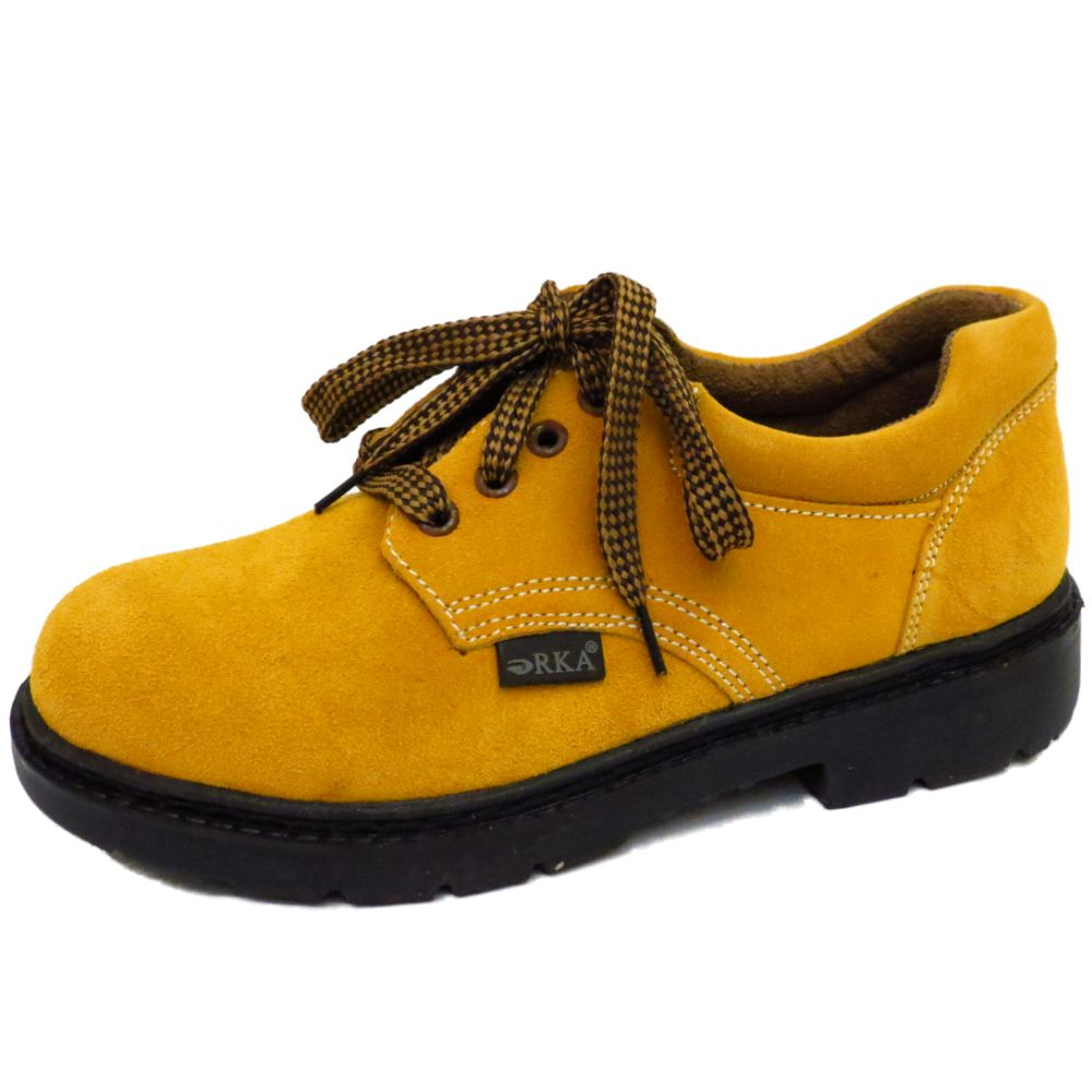 mens leather lace up ankle work hiking casual walking