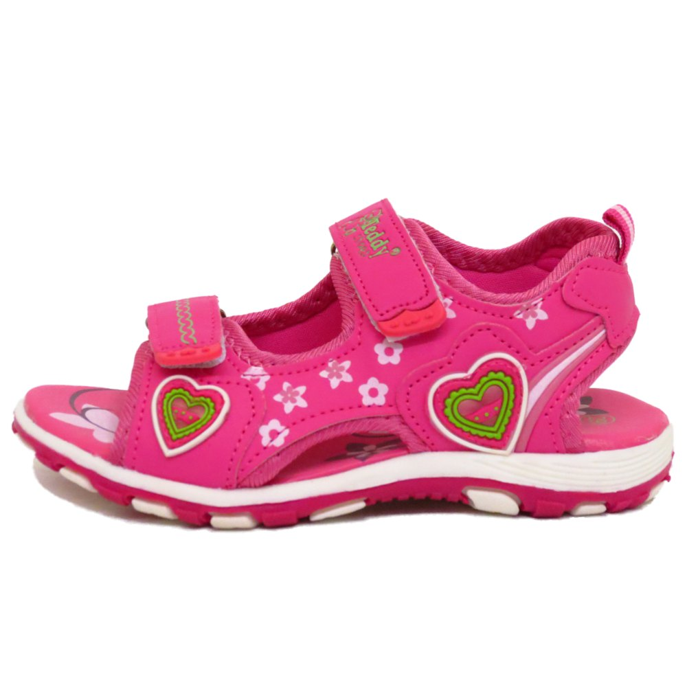 GIRLS KIDS PINK WALKING BEACH SUMMER VELCRO SANDALS FLAT SHOES PUMPS SIZE 8-12