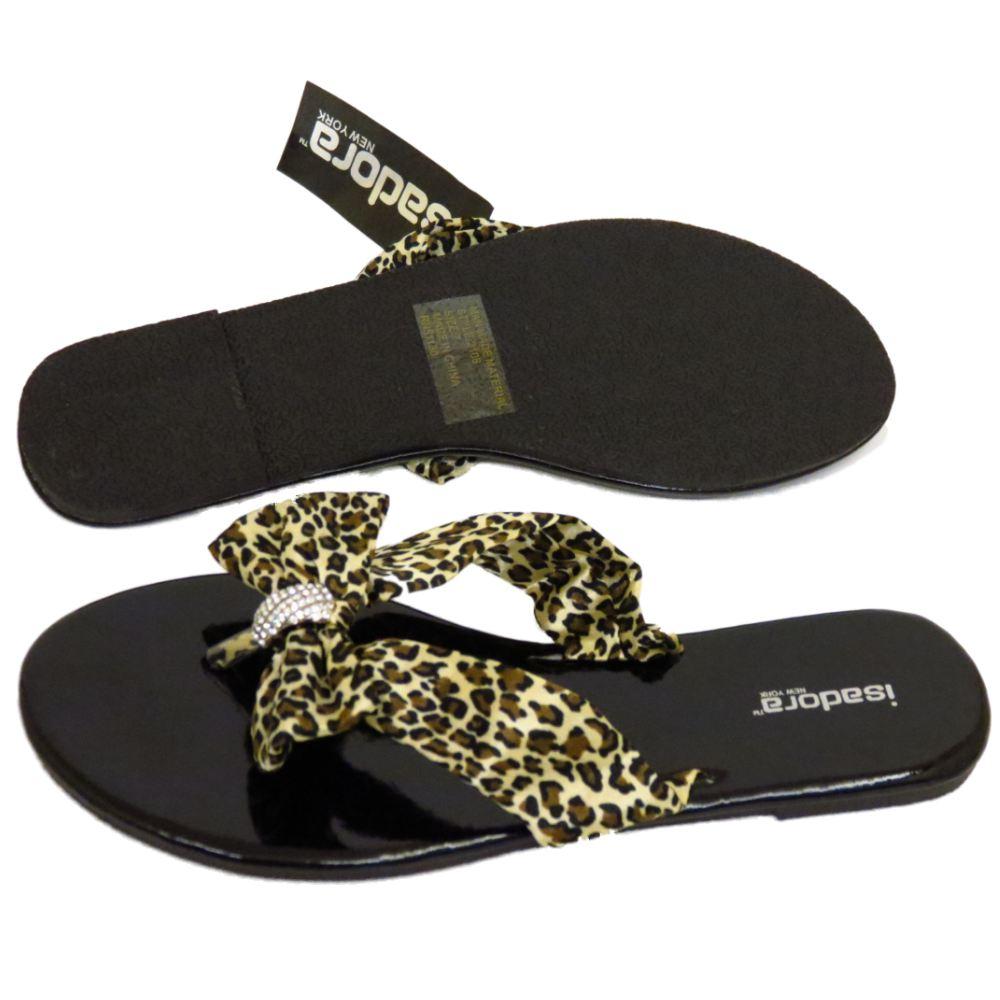 ladies black flat toepost leopard summer sandals flip