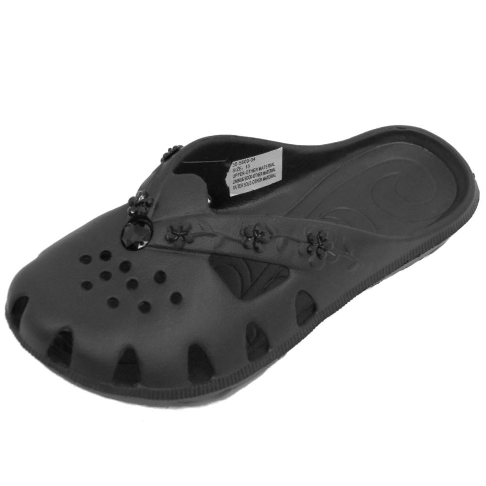 Niño Niña Negro Sin Cordones EVA Vacaciones Verano Zuecos Playa Zapatos número