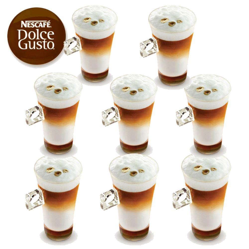 8 x nescaf dolce gusto latte macchiato cappuccino coffee. Black Bedroom Furniture Sets. Home Design Ideas