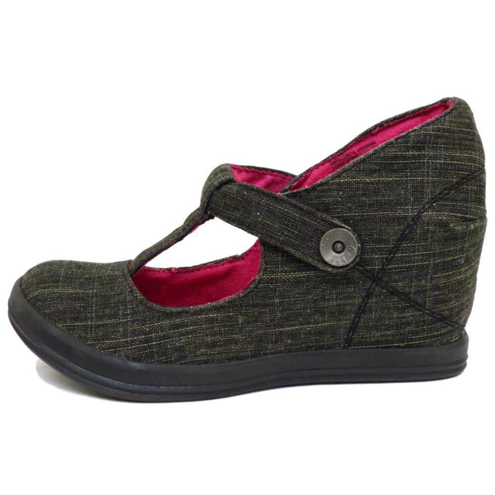 Ladies Canvas T Bar Shoes