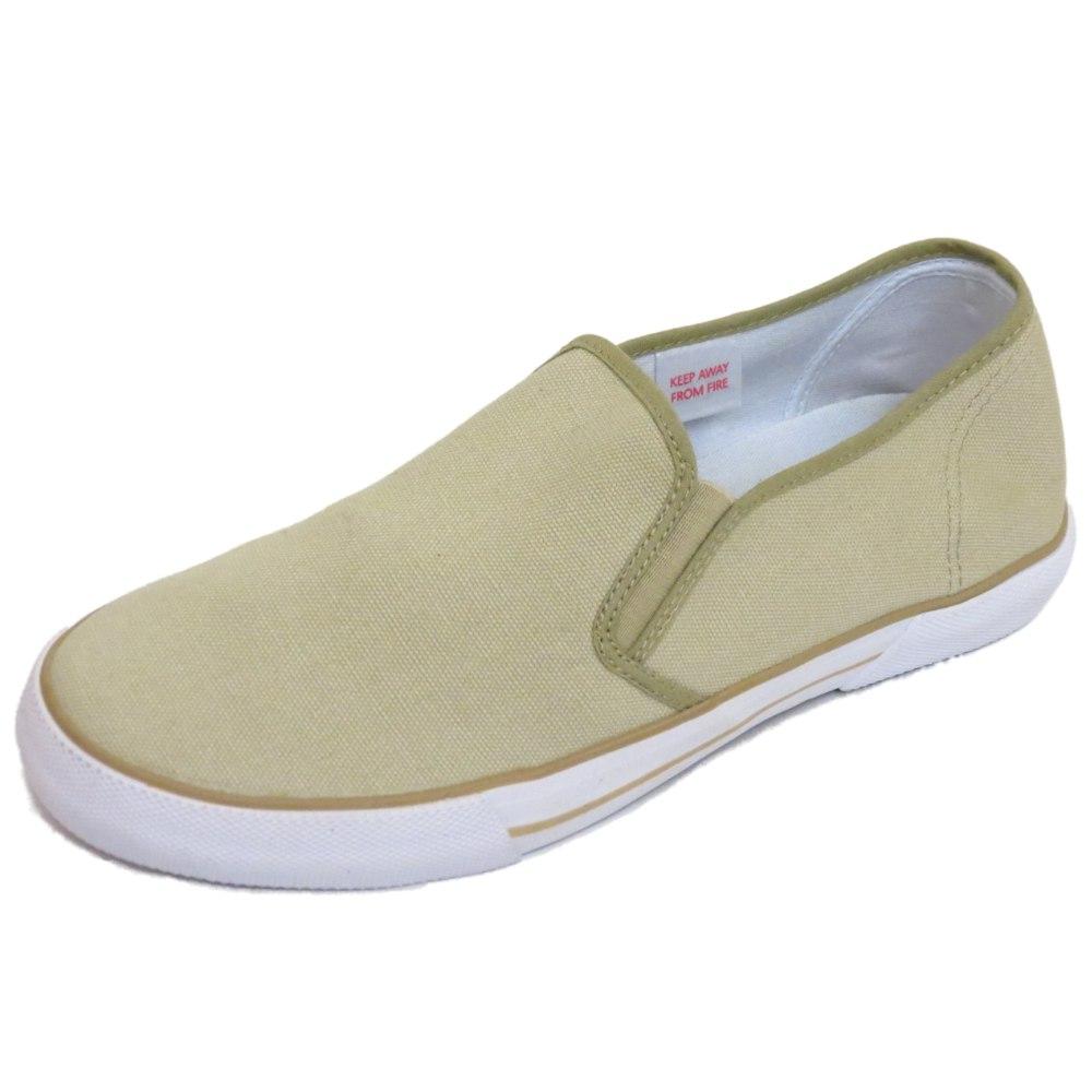 Beige Canvas Shoes Mens