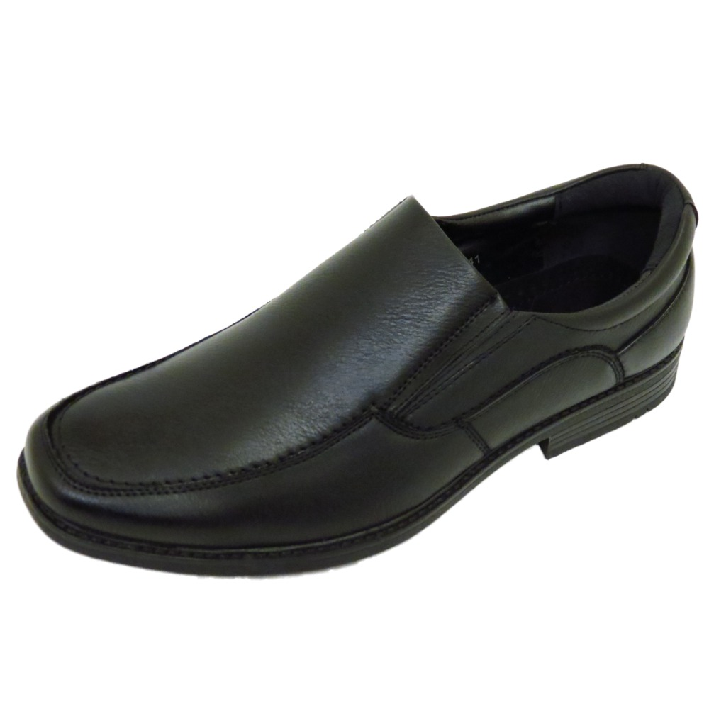 mens black formal work wedding smart casual loafer slip on