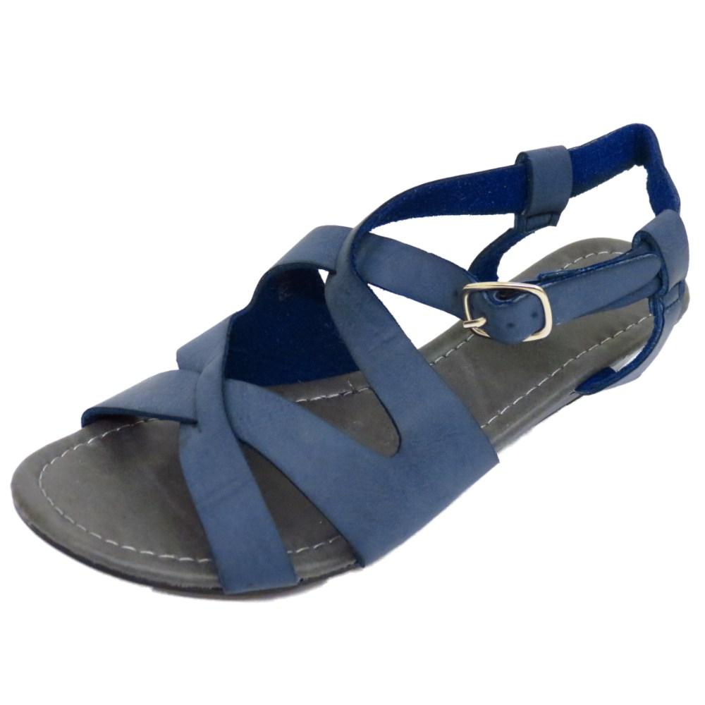 femme bleu marine confortable marche gladiator sandales ebay. Black Bedroom Furniture Sets. Home Design Ideas