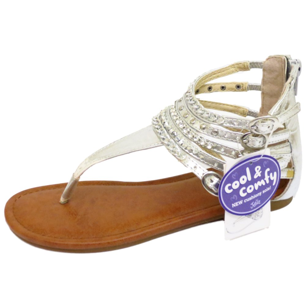 silver toe post t bar sandals flip flop shoes