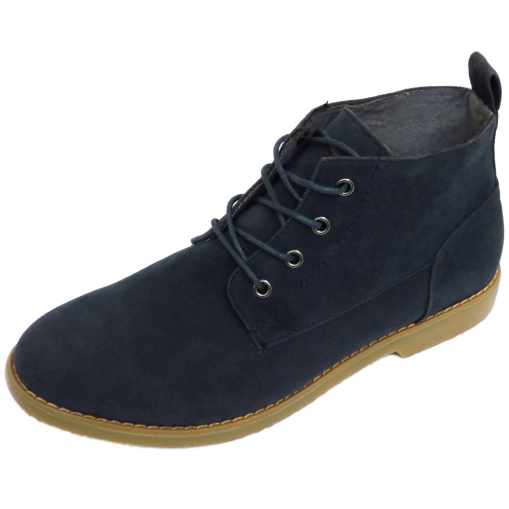 mens navy casual lace up fashion ankle desert boots mod shoes sizes 7 12 ebay. Black Bedroom Furniture Sets. Home Design Ideas