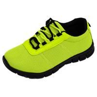 View Item BOYS GIRLS KIDS CHILDRENS GREEN SCHOOL TRAINERS LACE FLAT SPORTS SHOES SIZE 10-5