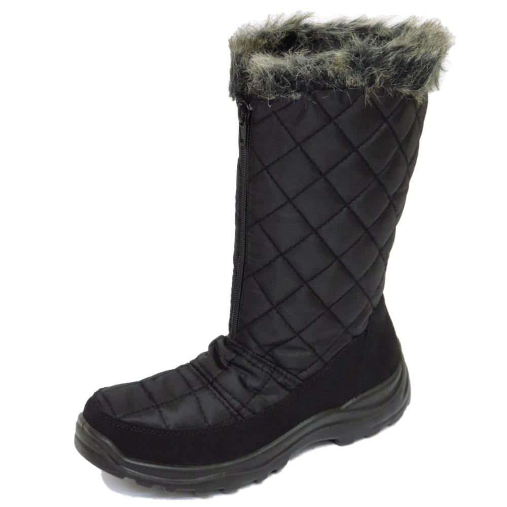 black waterproof warm winter snow ski