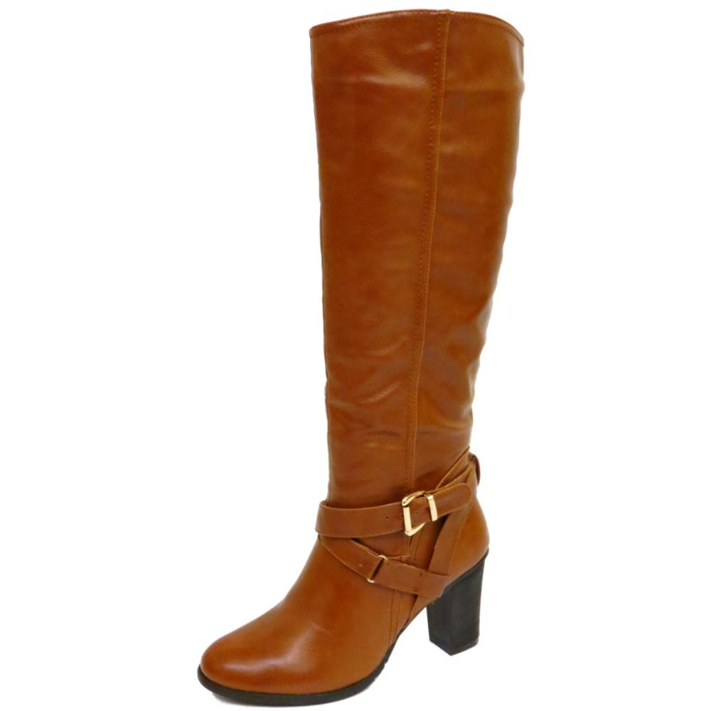 knee high zip up block heel winter warm