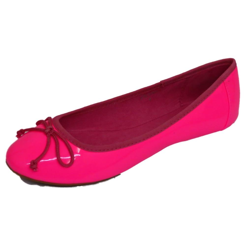 damen pink pumps puppe flach ballett lack schleife ballerina schuhe gr eu 36 41 ebay. Black Bedroom Furniture Sets. Home Design Ideas