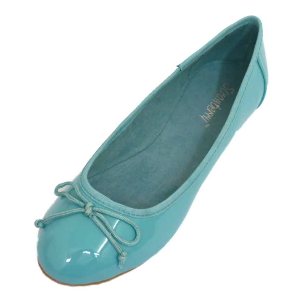 womens turquoise dolly flat ballet patent