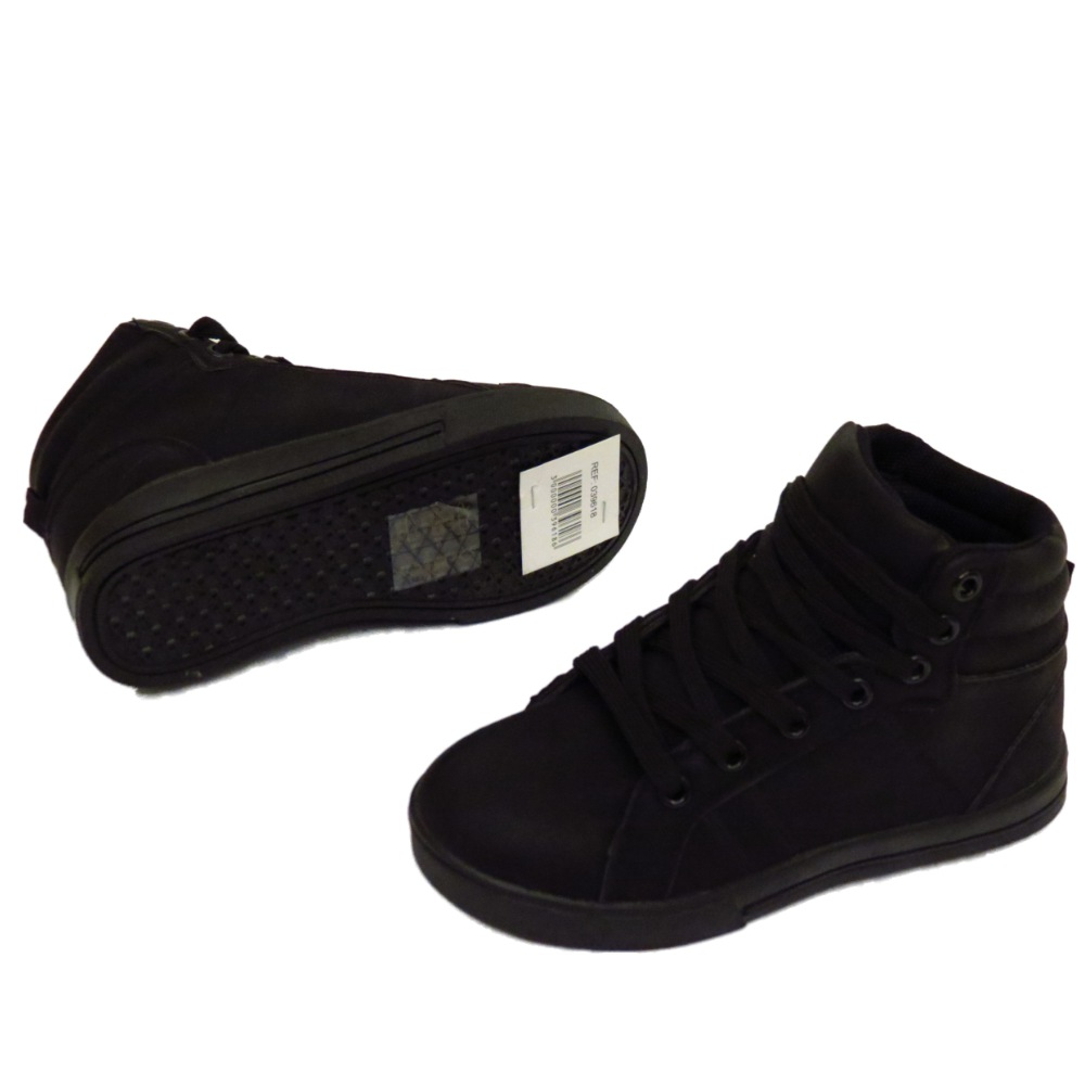 KIDS GIRLS BOYS BLACK HI-TOP LACE-UP TRAINERS FLAT BOOTS ...