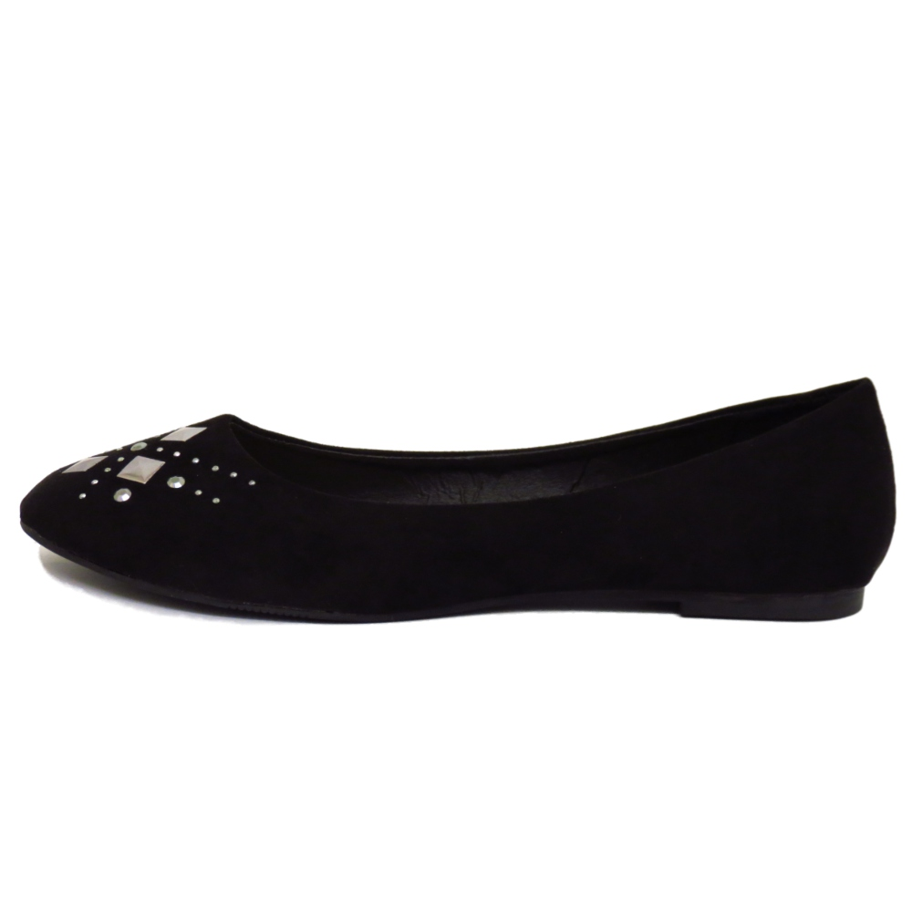 flat black slip on comfy work school shoes dolly