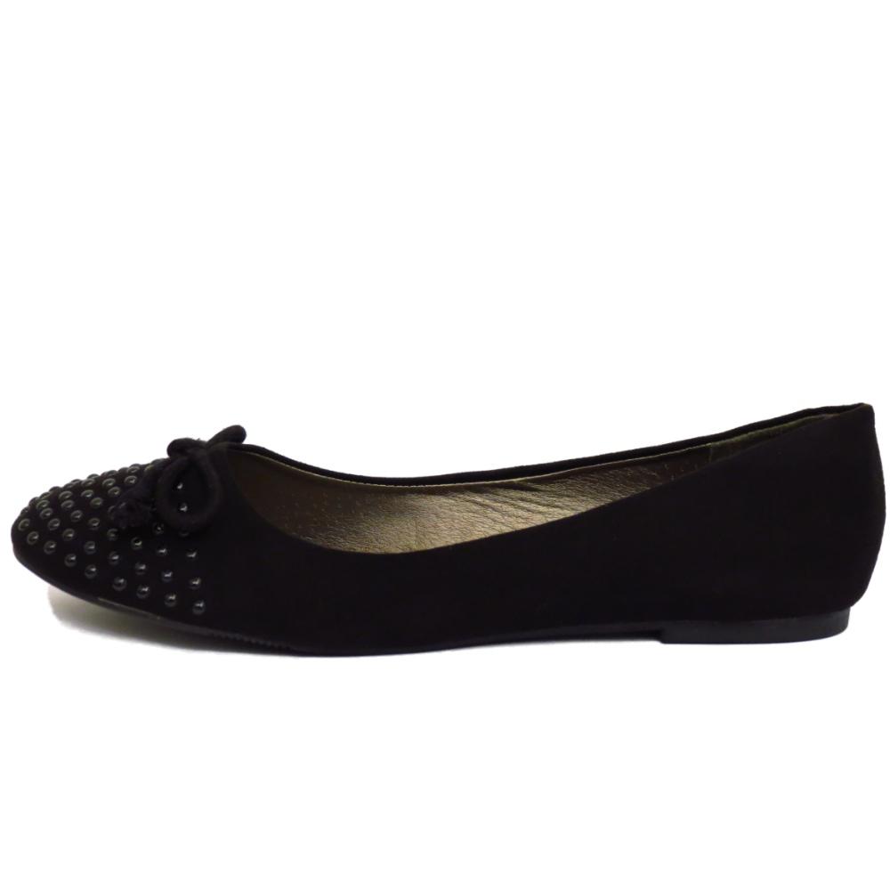 black slip on flat comfy work school shoes dolly