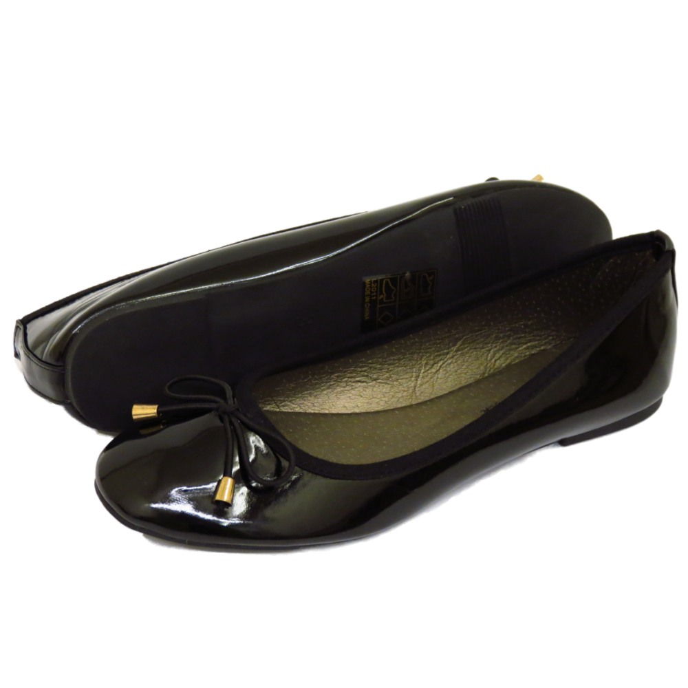 Black Patent Flat Dolly Shoes