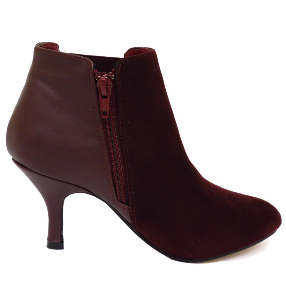 Ladies Wine Suede Shoes
