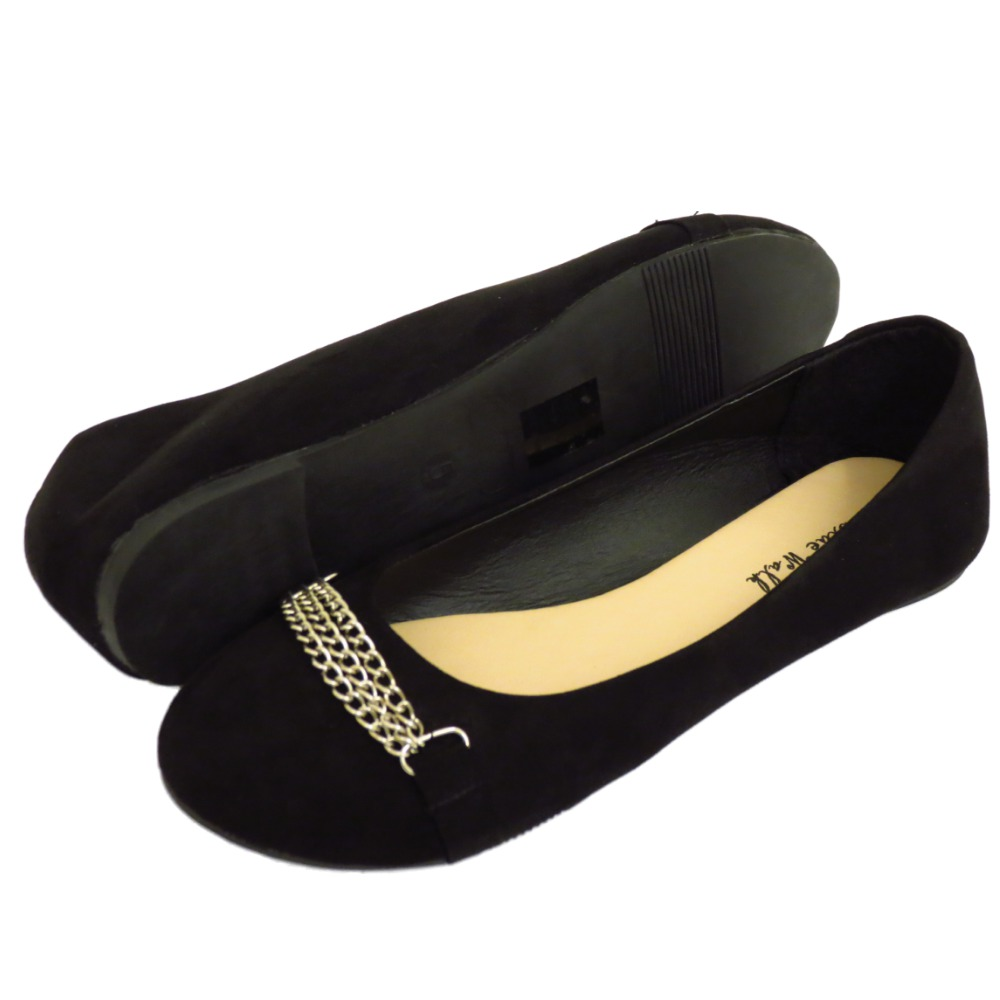 slip on flat black comfy work shoes dolly ballerina