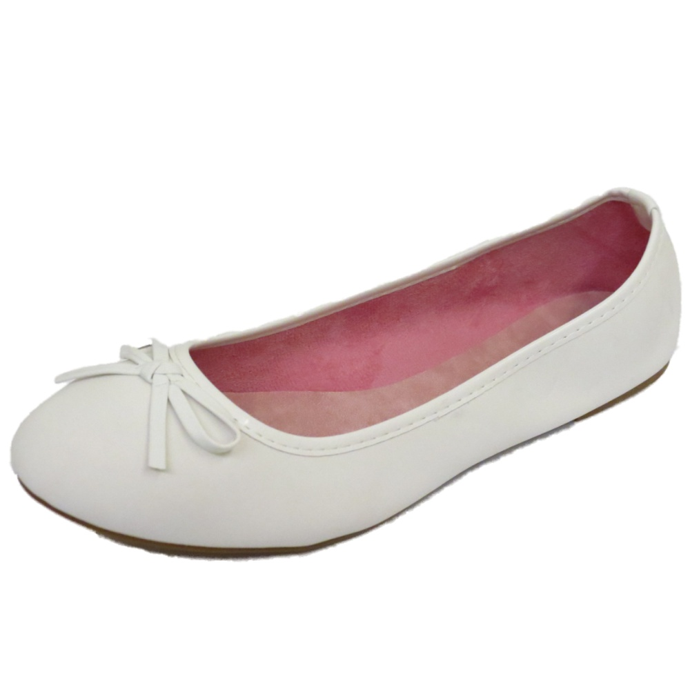 White Flat Ballet Shoes