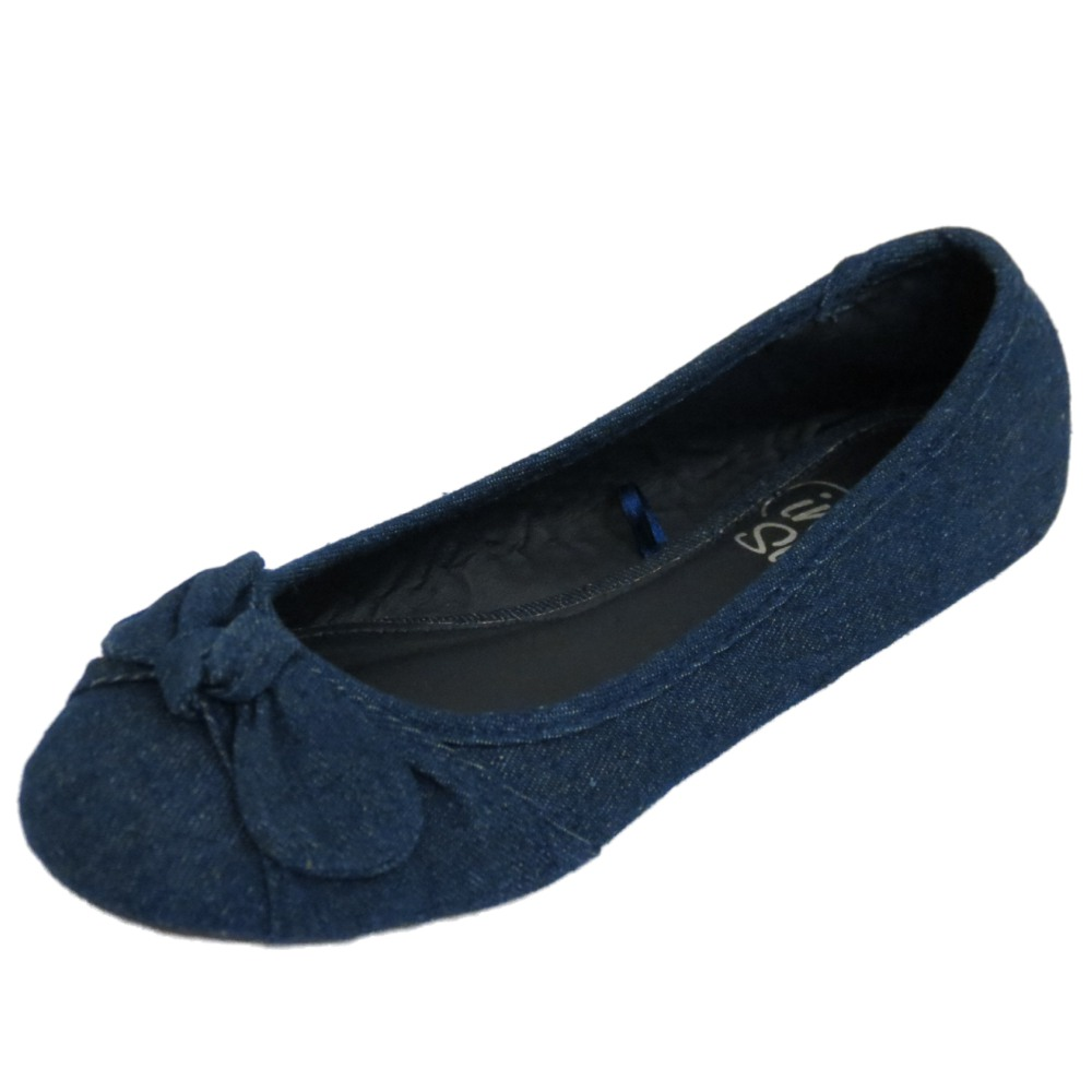 Navy Blue Dolly Shoes