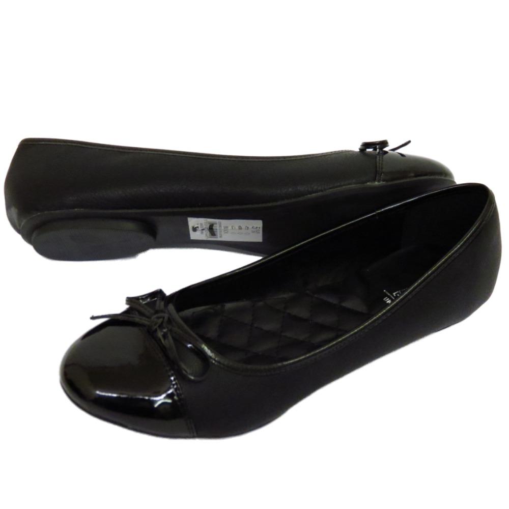 LADIES FLAT BLACK SLIP-ON COMFY WORK SHOES DOLLY BALLET SCHOOL PUMPS SIZES 3-8 | EBay