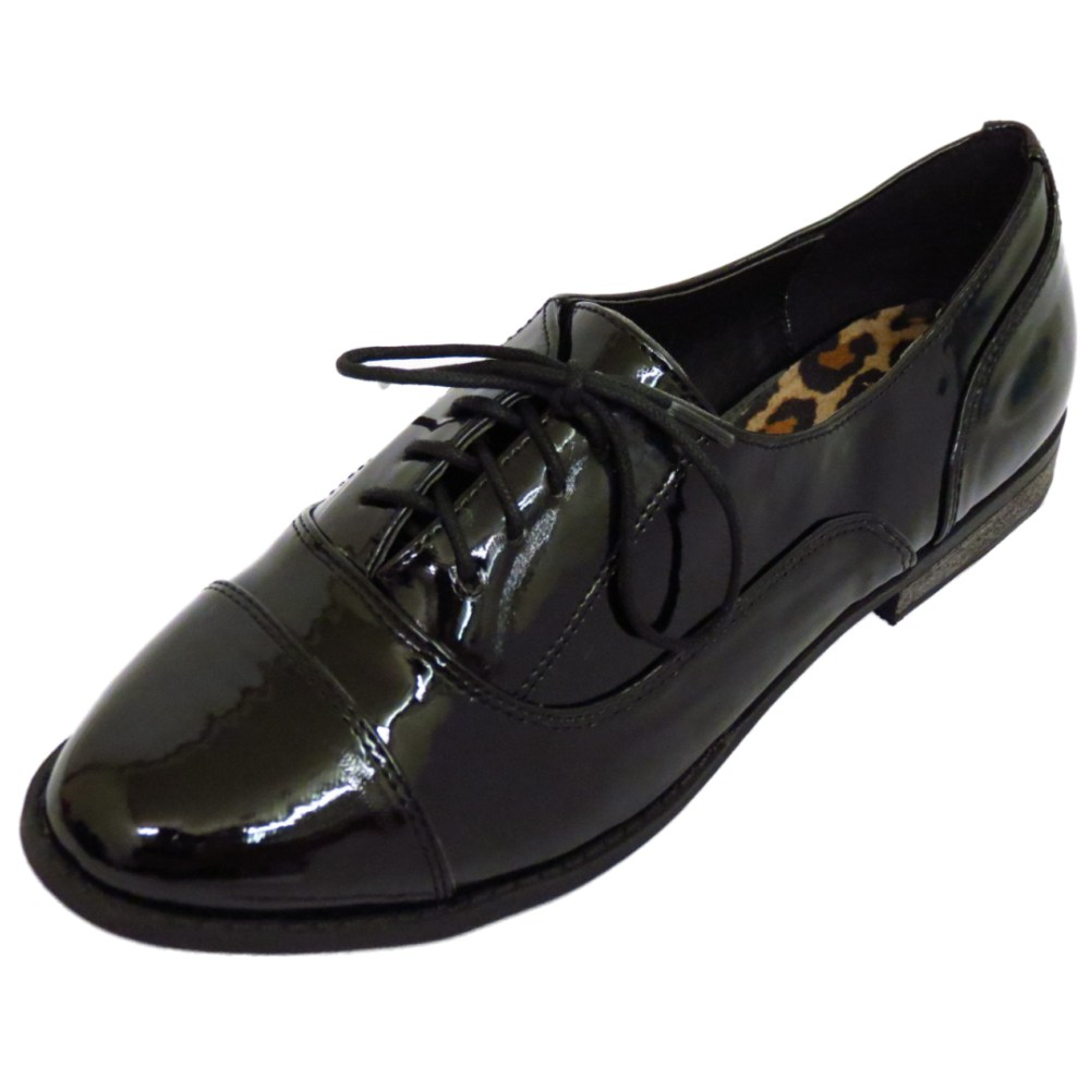 Women S Work Shoe Black Lace Up