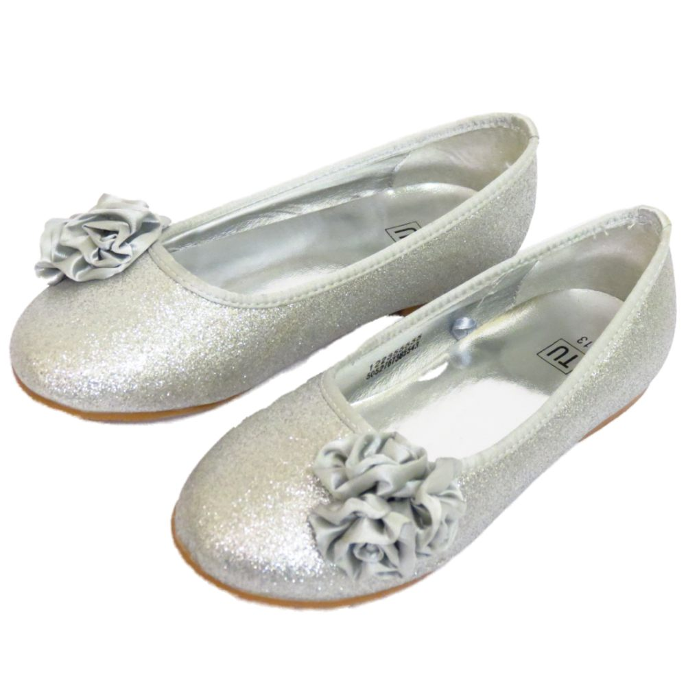 Childrens Silver Bridesmaid Shoes Uk