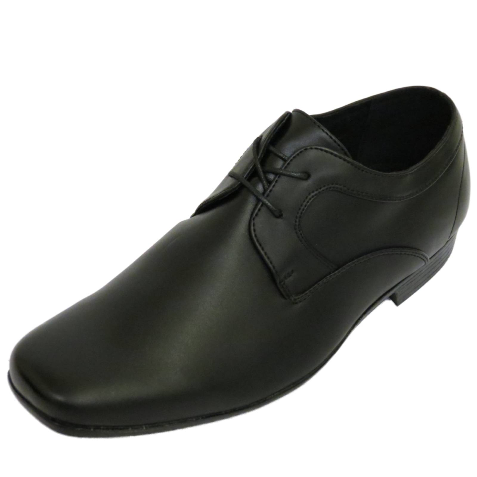 mens black lace up work wedding smart casual loafers work