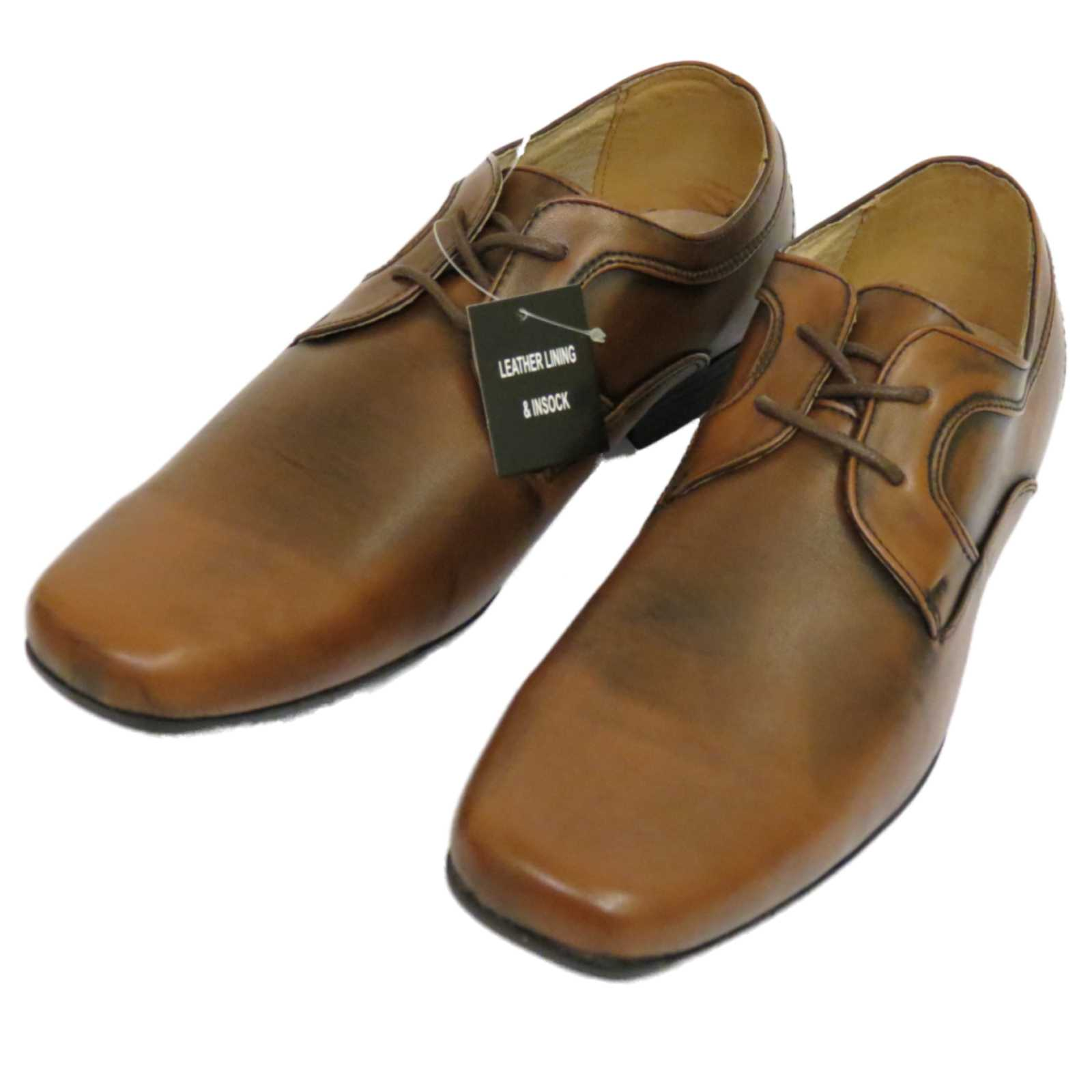 mens brown lace up work wedding smart casual loafers work