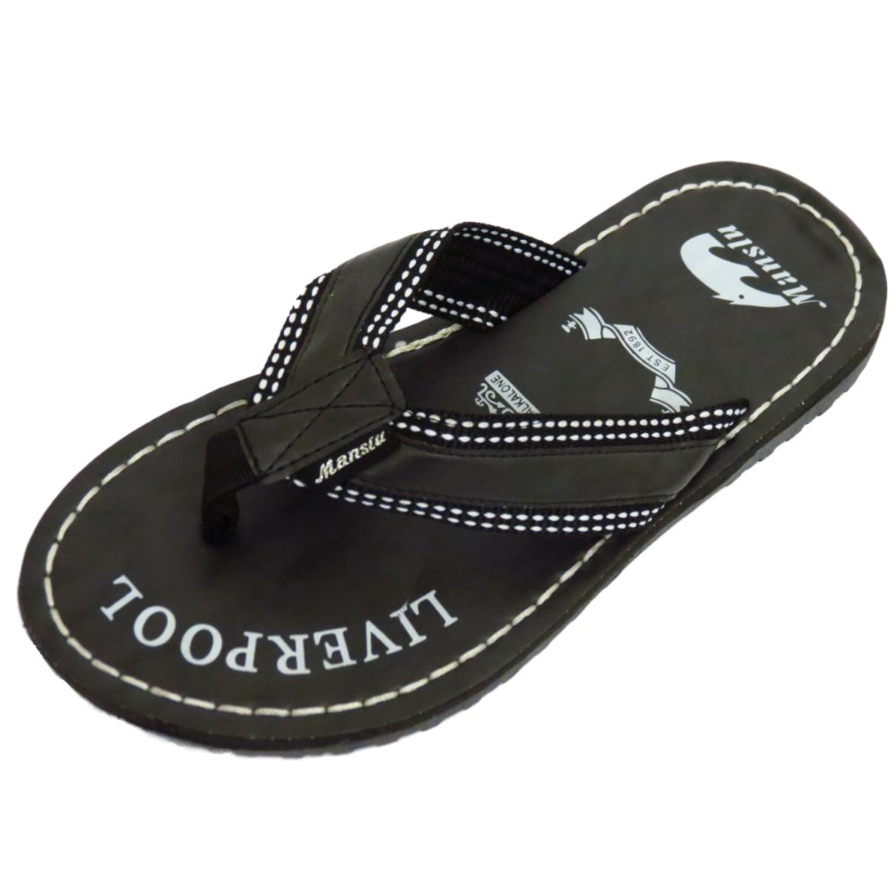 Black sandals holiday - Mens Black Toe Post Summer Flip Flop Holiday