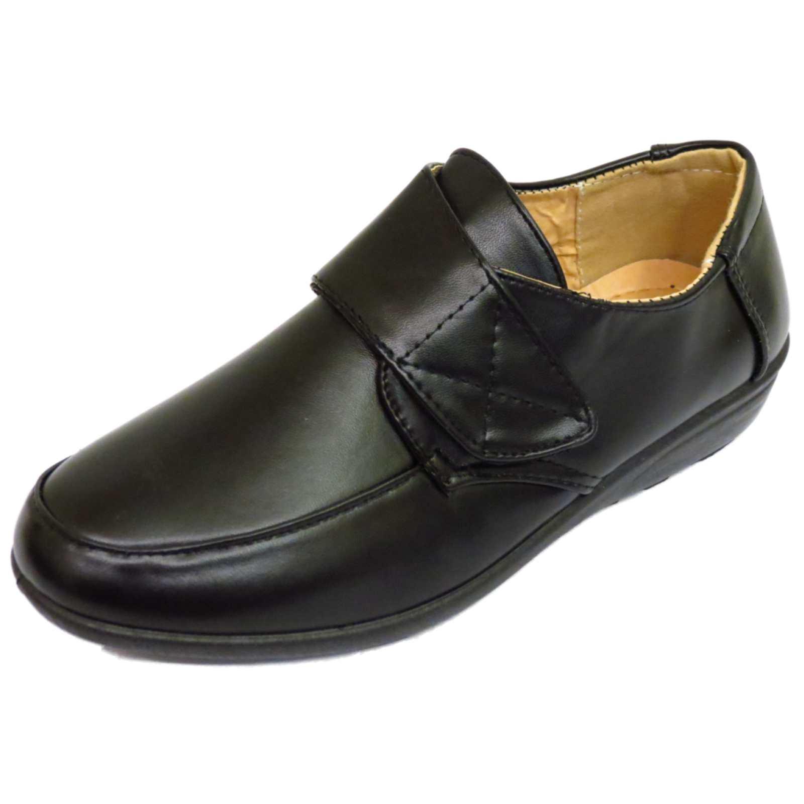 Cómodos Inteligente Negro De Mujer Cómodas Casuales Trabajo Sin Cordones Zapatos Bombas Tamaños 3-8
