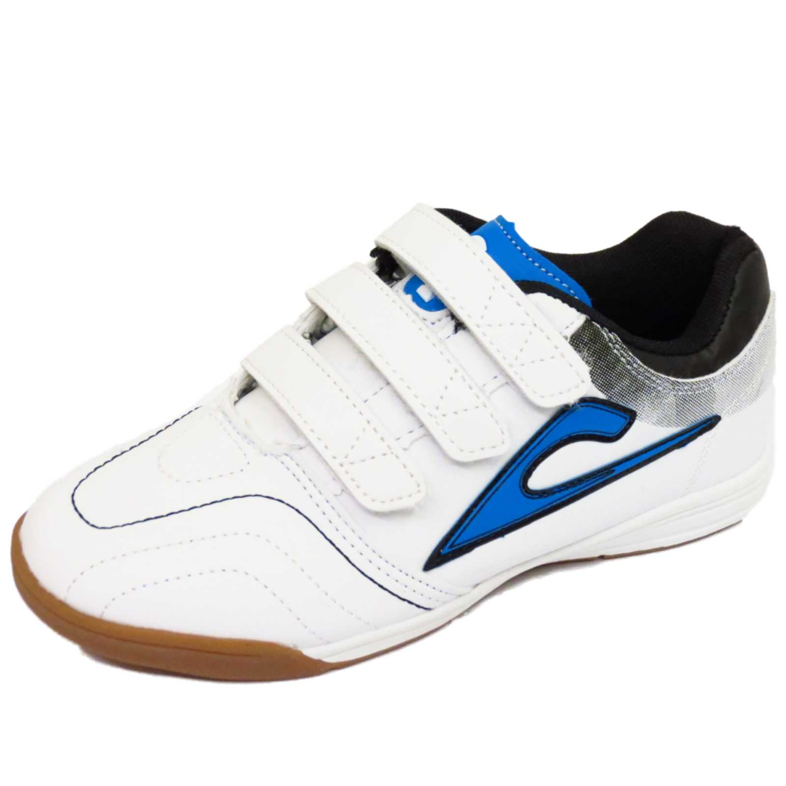 boys childrens white casual trainers school shoes